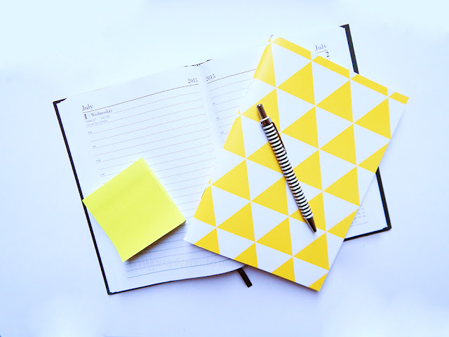 Note books on a blank background
