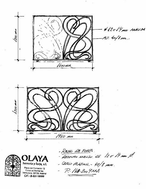 Diseños de rejas de forja con motivos originales y distintos