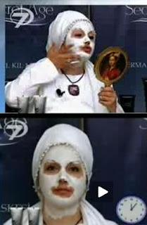 ikbal-gürpınar-secret-age-termal-kil-maskesi-yapıyor