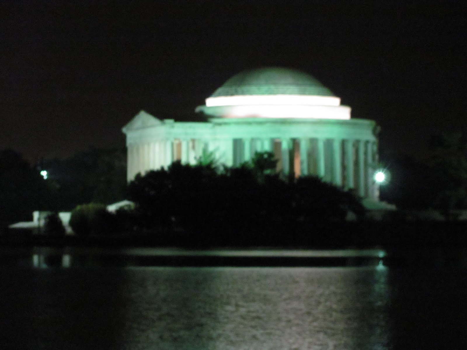 Pictured at a distance across the tidal basin in Washington, DC