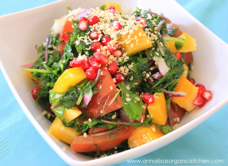 Kale Lovin Salad With Hemp And Pomegranate Healthy Weight Loss