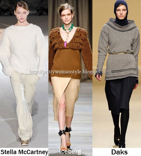 дебели пуловери Тенденции есен/зима 2011/12