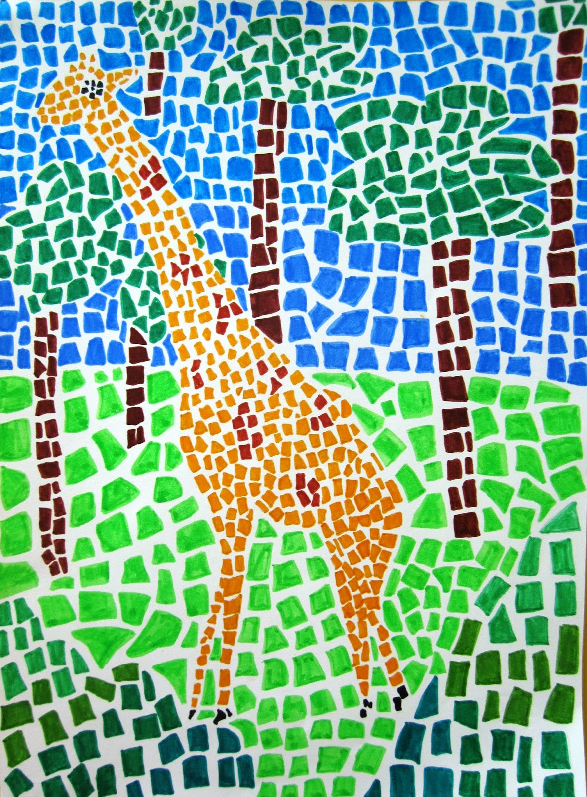 Immagin rti mosaico grafico
