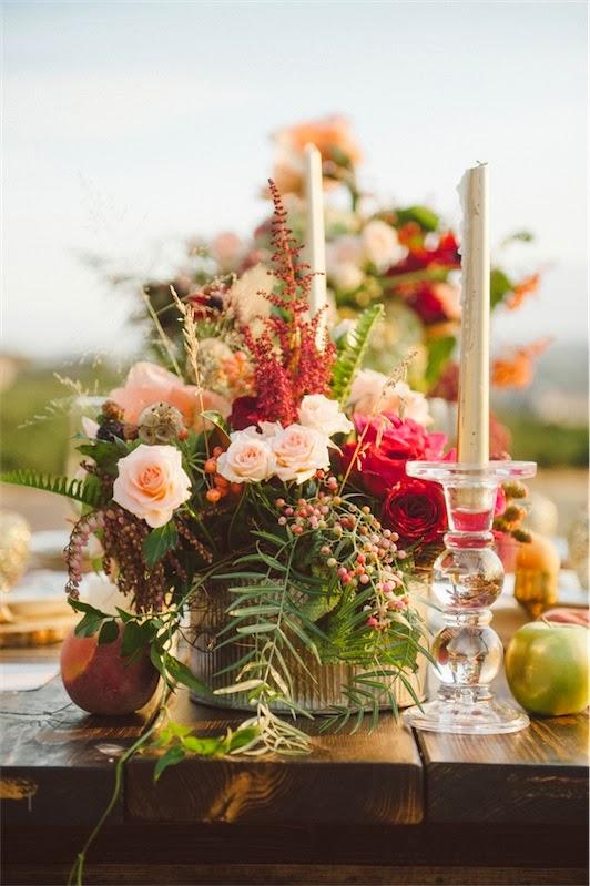 centro floral para boda