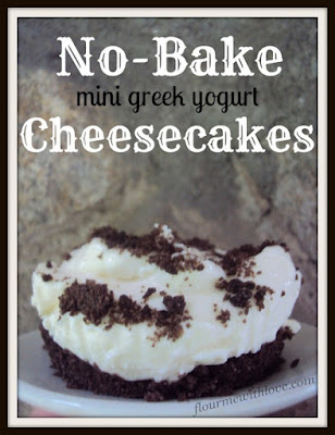 Rich cream cheese and greek yogurt mixed together for the perfect creamy no-bake cheesecake!
