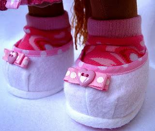 туфли для игрушек, мастер-класс