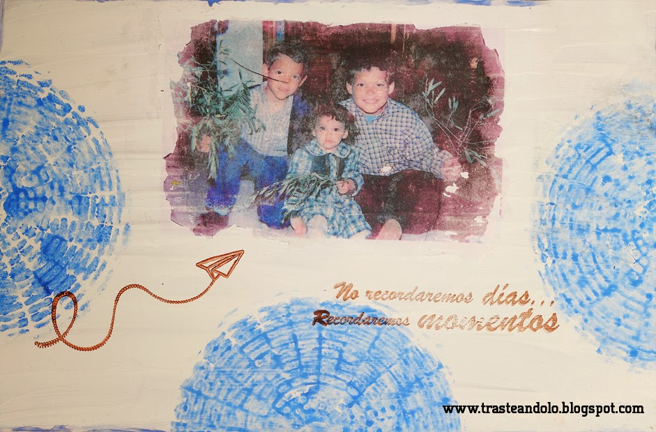 transferencia mixed media tablon