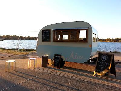 A vintage caravan cafe.