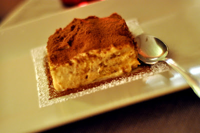 Tiramisu at Ristorante Malborghetto in Lecchi, Italy - Photo by Taste As You Go