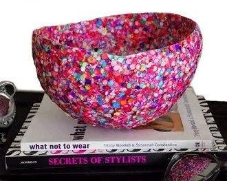 make Decorative Confetti Bowls