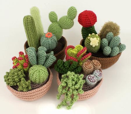 Cactus Fantasia Amigurumi Tejidos A Crochet : Una coleccion de cactus de Crochet - Deco & Living