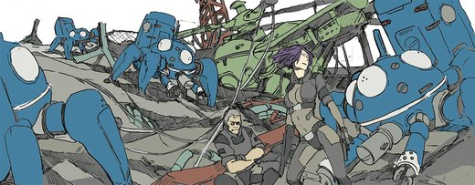 scribble: Ghost in the shell SAC por hira-geco