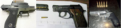 Guns Discovered at (L-R) ATL, FWA, MCI