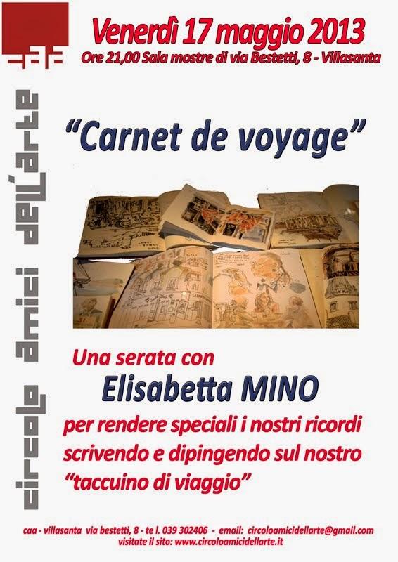 "Conferenza: ""Carnet de Voyage"" (taccuino di viaggio)"