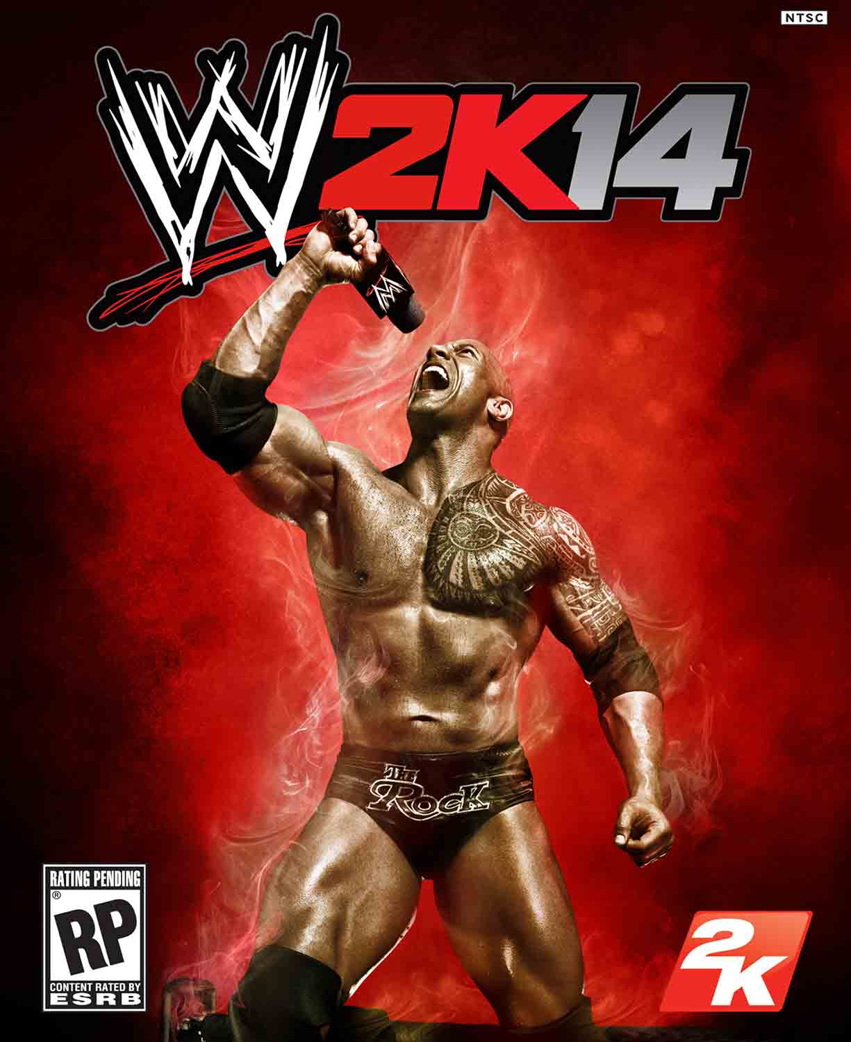 wwe 2k14 hq cover art download, wwe 2k14 cover, the rock wwe 2k14 cover wallpaper, poster, 2013, 2014 wwe game wallpaper