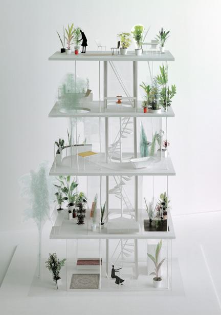 Ryue nishizawa garden and house un giardino verticale a for Piani dell edificio per la colazione
