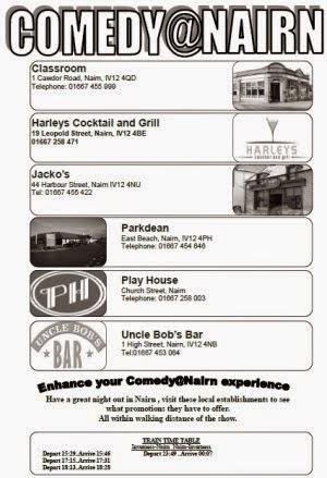 Special offers in conjunction with Wildnight Comedy