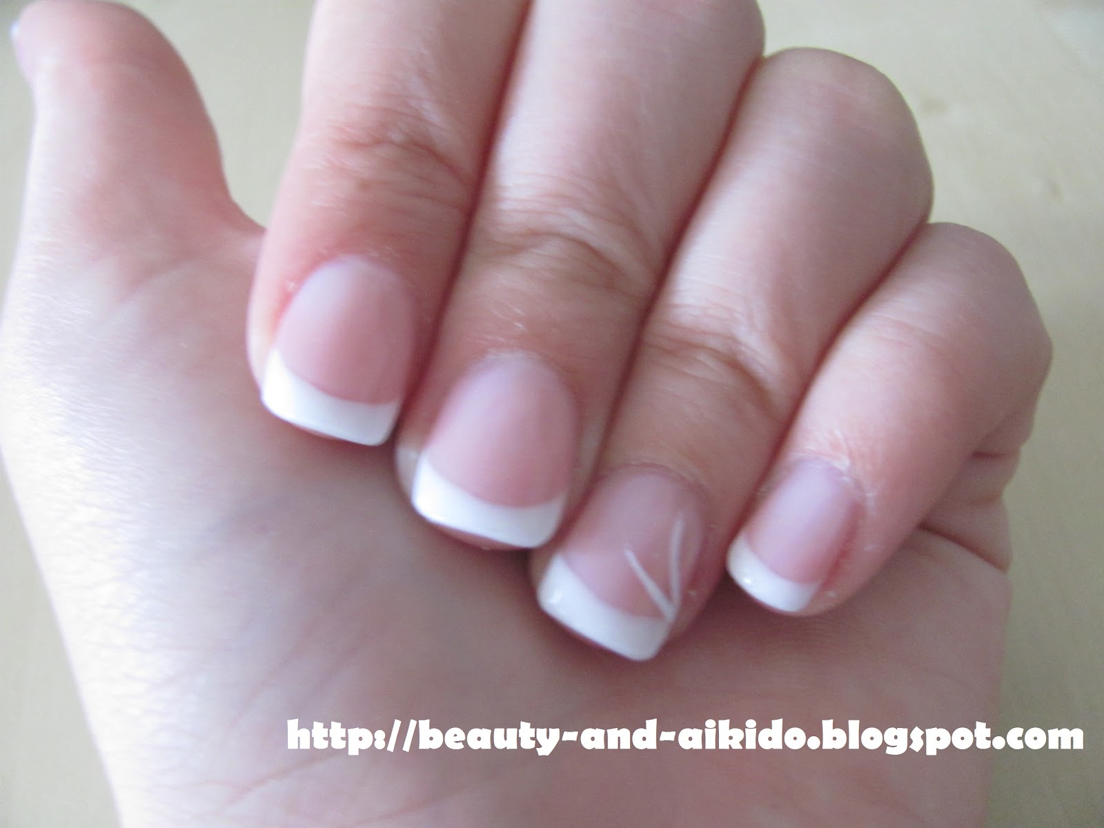 UV Gel French Manicure ~ Beauty and Aikido