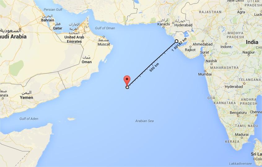 Distance Nilofar - Gujarat
