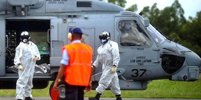 Seahawk evakuasi jenazah AirAsia