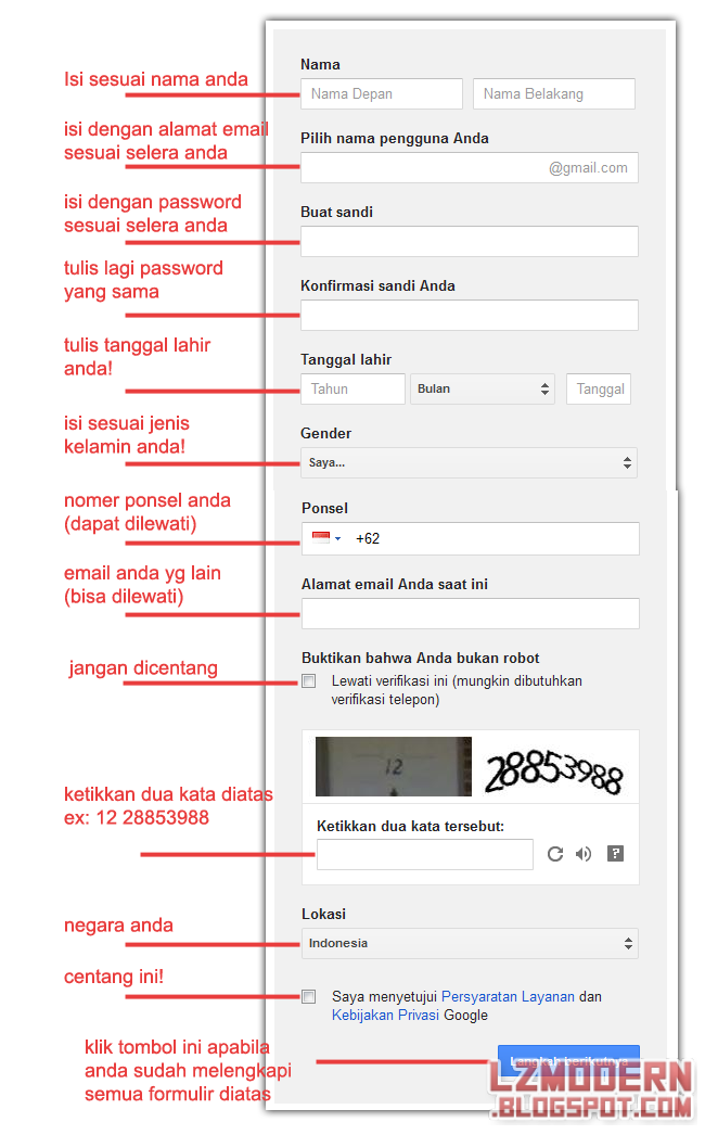 Cara Membuat akun Google atau Gmail Terbaru 2014