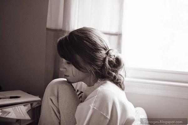 Sad Alone Girl In Room Broken Heart Vintage