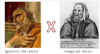 Resultado de imagem para agostinho x pelagio