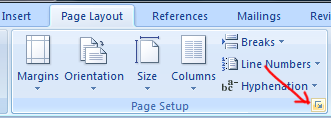 mencari-page-setup-word-2007