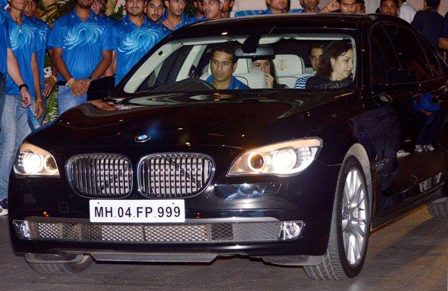 Sachin Tendulkar And His Family In Their Incredibly Rare Bmw 7 Steinway Amp Sons Edition