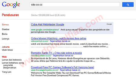 Co.Cc Kembali Terindex di Google