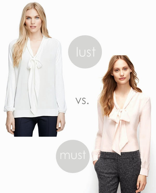 Lookalikes: tie neck silk blouse | Ridgely's Radar