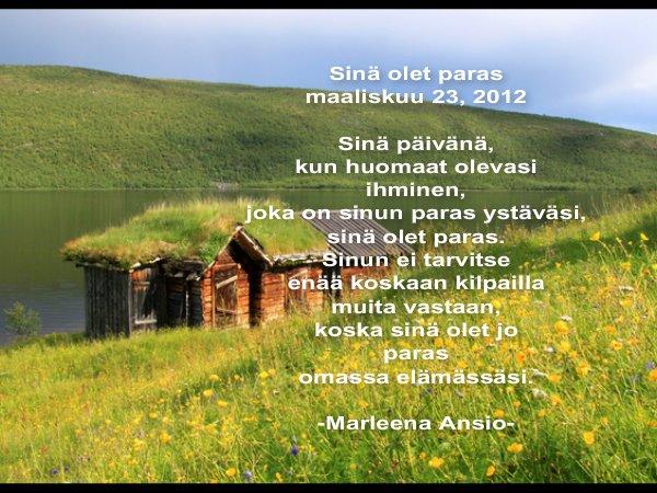 nalle puh ystävä runo Lahti