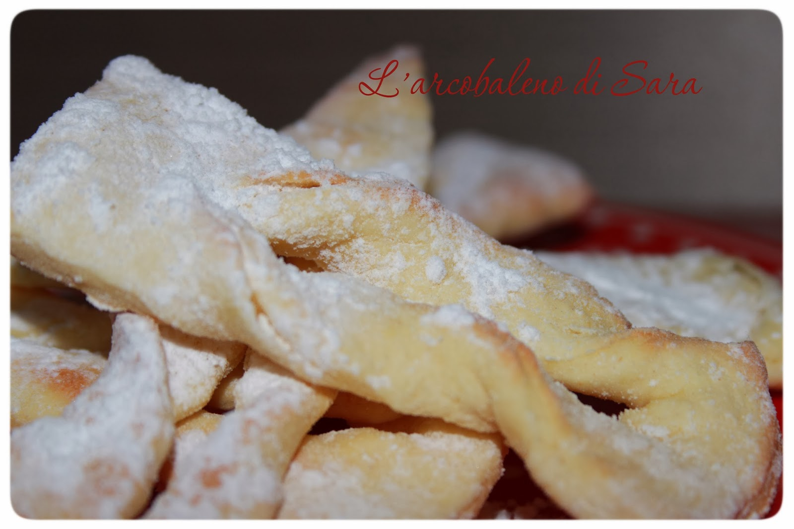 chiacchiere light al forno