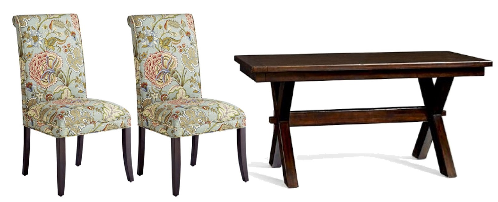 Contemporary Fabric Dining Chairs Pier One Preppy Navy A Intended ...