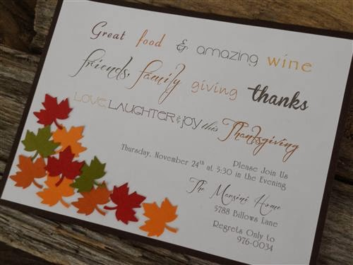 Unique Homemade Thanksgiving Feast Invitations