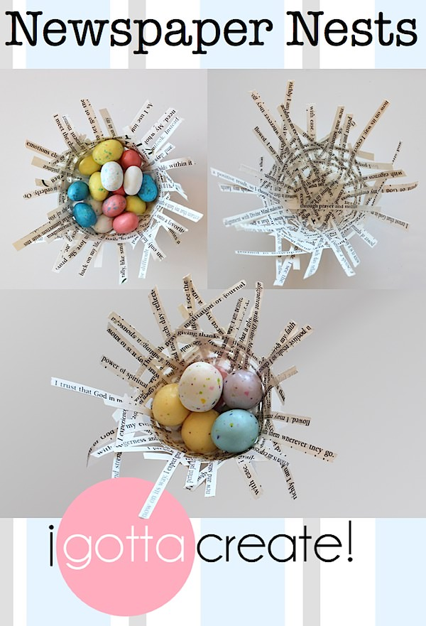 Make functional nests from strips of newspaper or magazines. | Paper #Nest Tutorial at I Gotta Create!