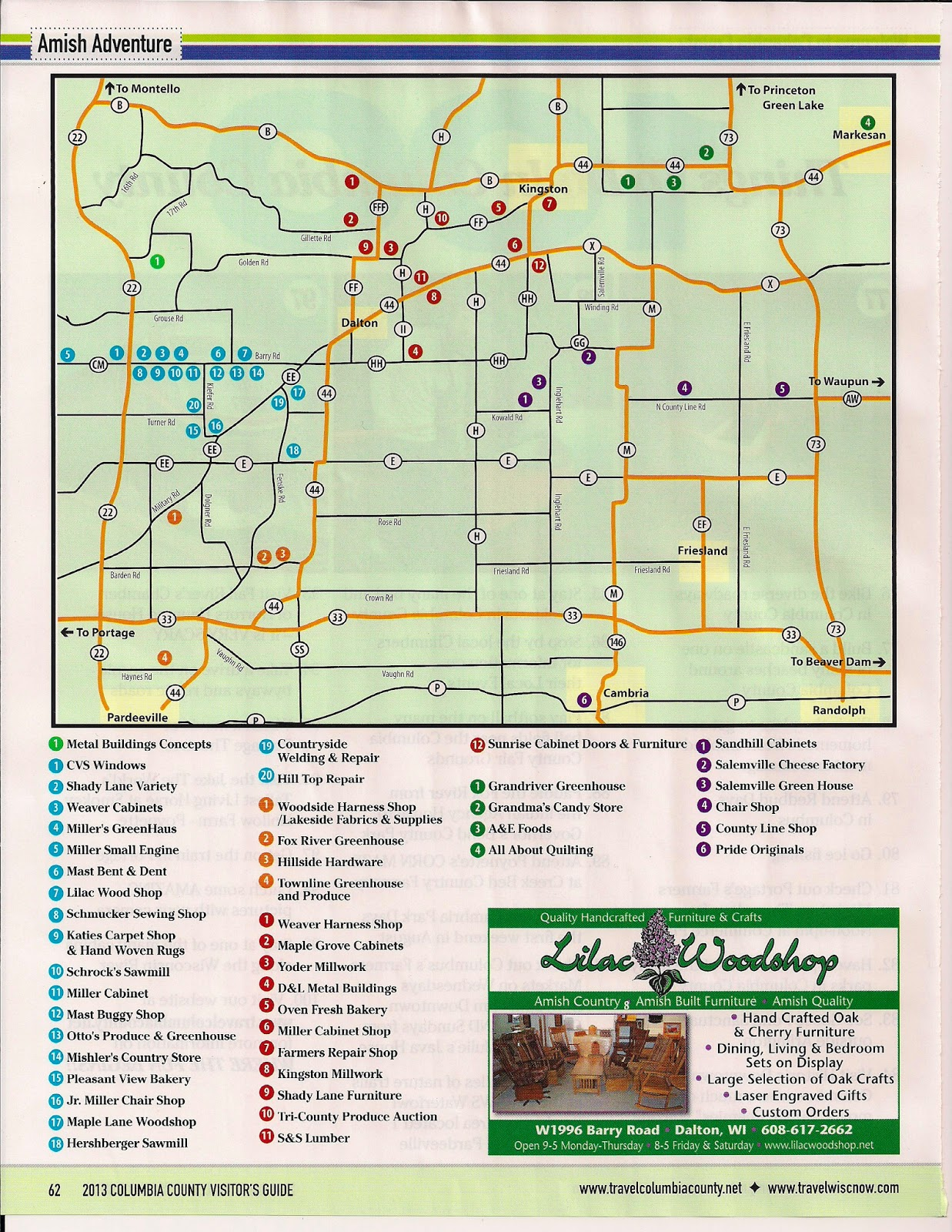 Amish Wisconsin Map.The Cabin Countess Amish Greenhouses