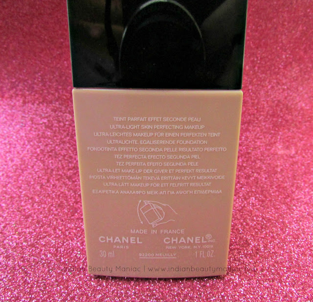 CHANEL Vitalumiere Aqua Ultra-Light Skin Perfecting Makeup review, Chanel Foundations for Dry Skin, Foundation for dry skin, light-weight foundations in India, water-based foundation for dry skin, Indian Beauty Blogger, Review, Indian Makeup Blogger