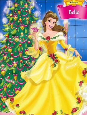 Disney Princess Christmas Wallpaper Belle Day