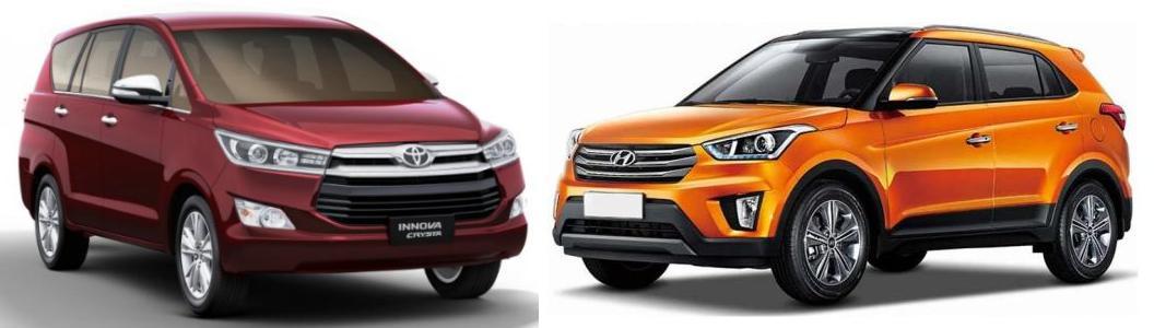 Toyota Innova Crysta vs Creta Comparison