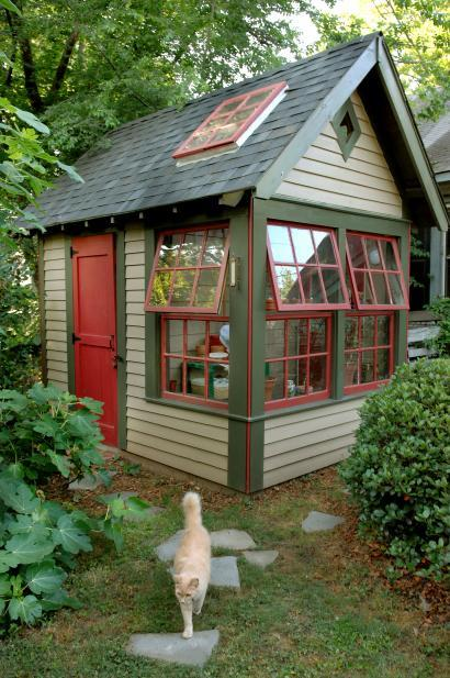Garden Shed with Windows