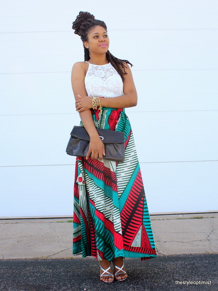 bella naija, african fashion bloggers, styleoptimist, african maxi skirt, ankara maxi skirt, how to wear african print, minneapolis fashion blogger, african print skirt, liberian fashion blogger
