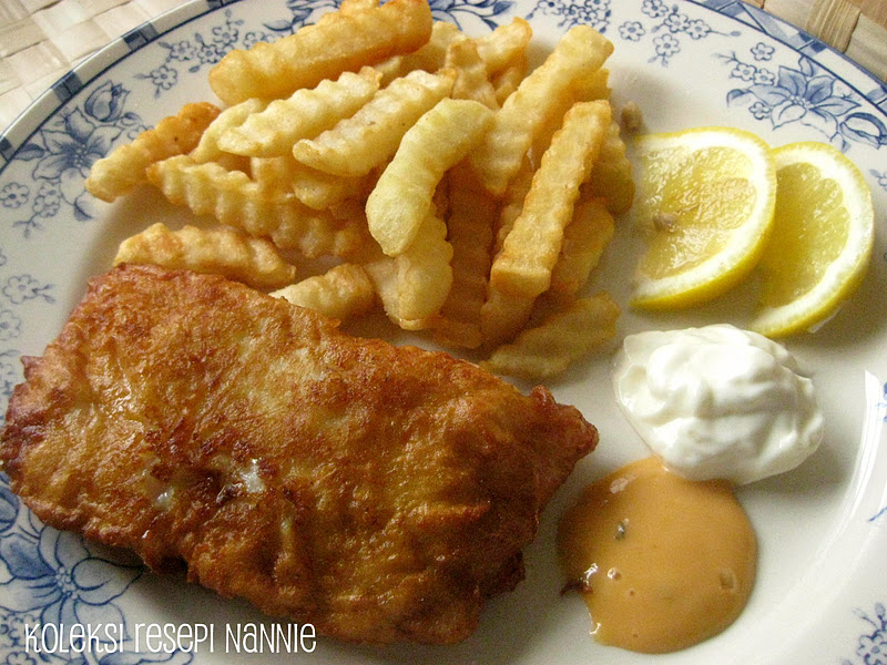 Resepi nennie khuzaifah fish n chips for Wave fish and chips