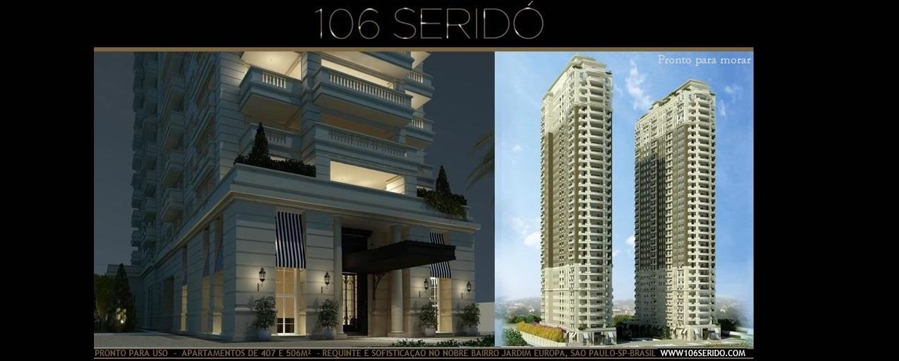 106 SERIDÓ - Apartamentos de 405 a 930m² com requinte e sofisticação, no Jardim Europa.