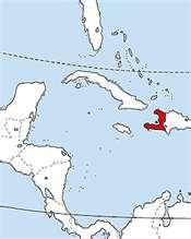 Mapa de la ubicación de Haití en Centroamérica