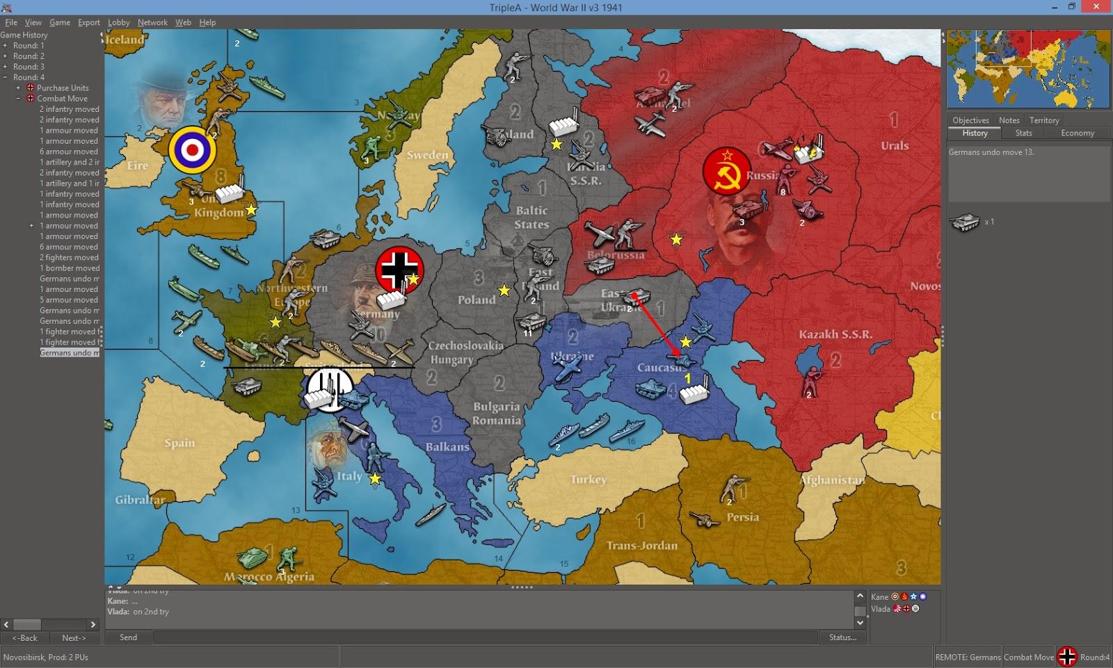 Krieg in Europa