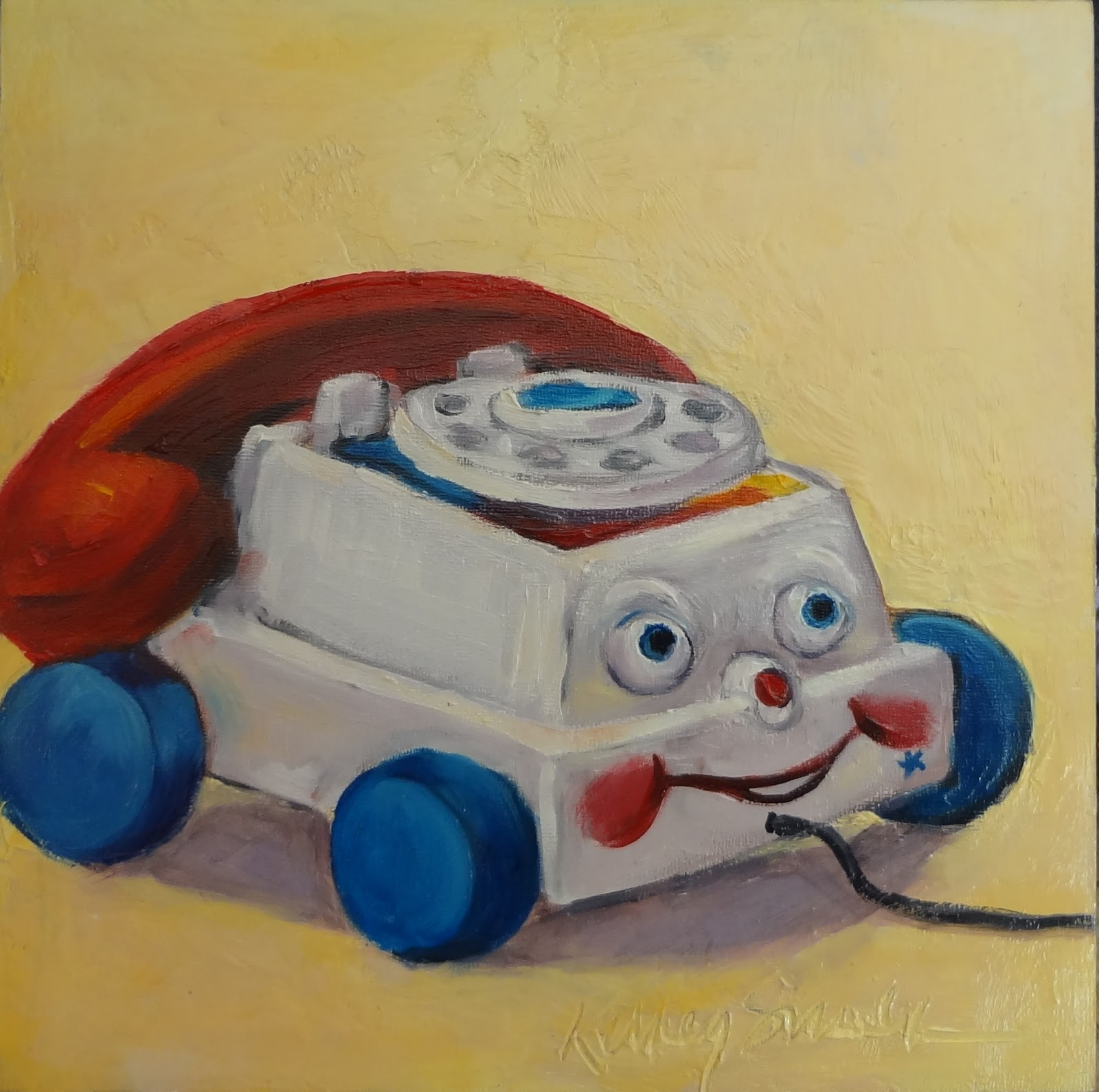 life and art with glamma fabulous new paintings vintage toy series