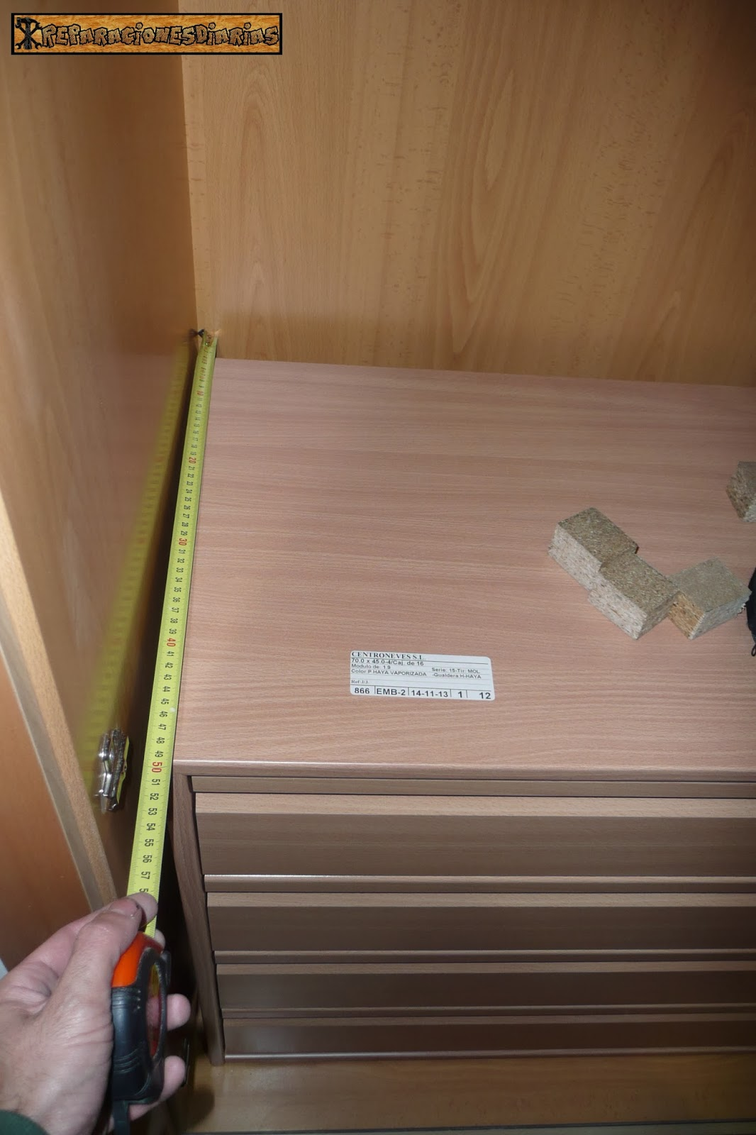 Reparacionesdiarias instalar unas cajoneras en los armarios - Cajoneras de armarios ...