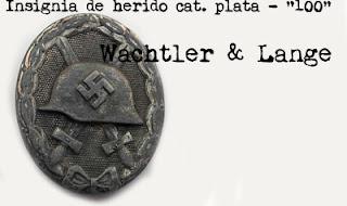 "Insignia de herido cat. plata - ""100"" Rudolf Wächtler & Lange"