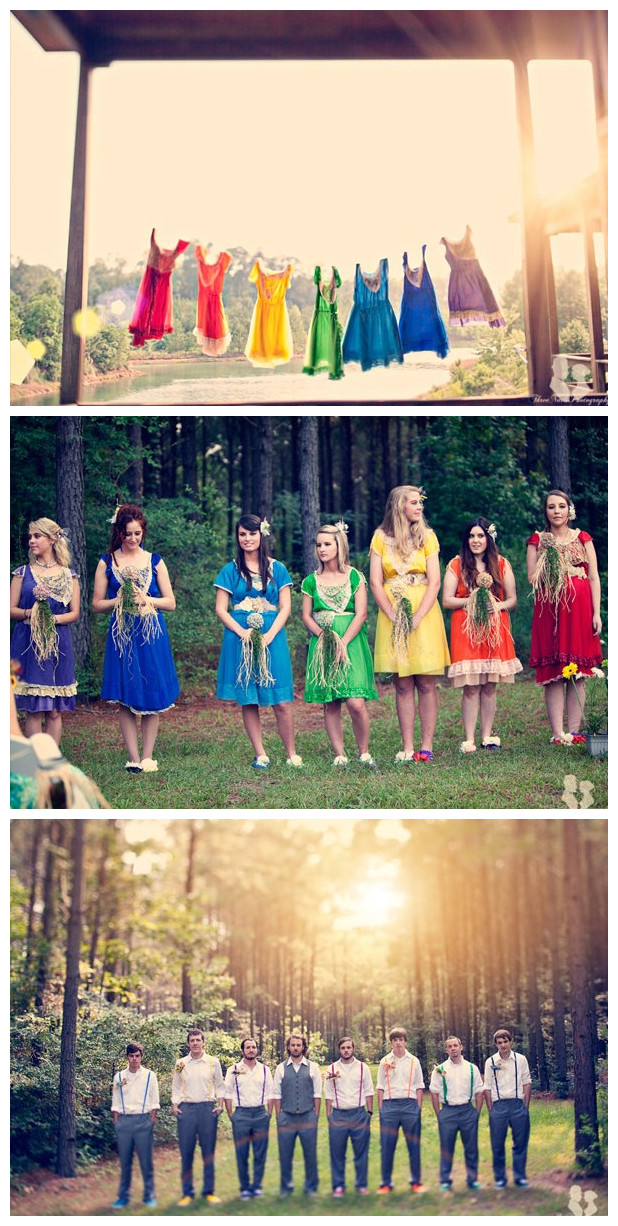 Rainbow Theme Wedding 02